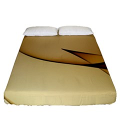 Edge Gold Wave Fitted Sheet (queen Size)