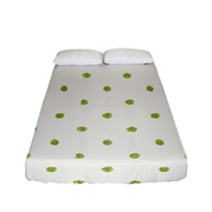 Green Spot Jpeg Fitted Sheet (full/ Double Size)