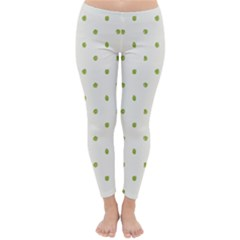 Green Spot Jpeg Classic Winter Leggings