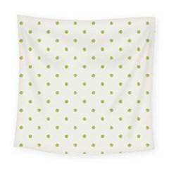 Green Spot Jpeg Square Tapestry (large)