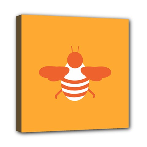Littlebutterfly Illustrations Bee Wasp Animals Orange Honny Mini Canvas 8  X 8