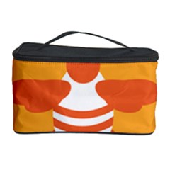 Littlebutterfly Illustrations Bee Wasp Animals Orange Honny Cosmetic Storage Case