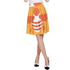 Littlebutterfly Illustrations Bee Wasp Animals Orange Honny A Line Skirt