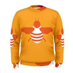 Littlebutterfly Illustrations Bee Wasp Animals Orange Honny Men s Sweatshirt
