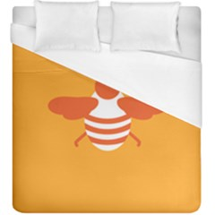 Littlebutterfly Illustrations Bee Wasp Animals Orange Honny Duvet Cover (king Size)