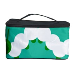 Little Butterfly Illustrations Caterpillar Green White Animals Cosmetic Storage Case
