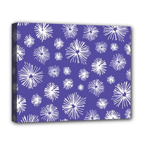 Aztec Lilac Love Lies Flower Blue Deluxe Canvas 20  X 16   by Alisyart