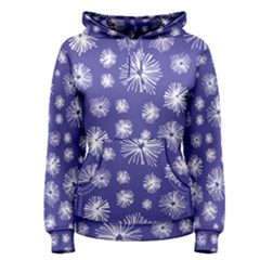 Aztec Lilac Love Lies Flower Blue Women s Pullover Hoodie
