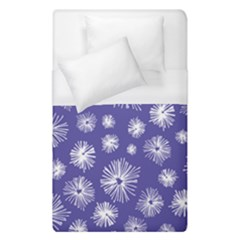 Aztec Lilac Love Lies Flower Blue Duvet Cover (single Size) by Alisyart