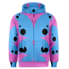 Pink Blue Butterfly Animals Fly Men s Zipper Hoodie