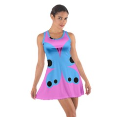 Pink Blue Butterfly Animals Fly Cotton Racerback Dress