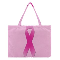 Pink Breast Cancer Symptoms Sign Medium Tote Bag by Alisyart