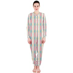 Rabbit Eggs Animals Pink Yellow White Rd Blue Onepiece Jumpsuit (ladies)