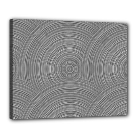 Circular Brushed Metal Bump Grey Canvas 20  X 16