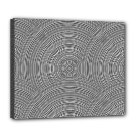 Circular Brushed Metal Bump Grey Deluxe Canvas 24  X 20