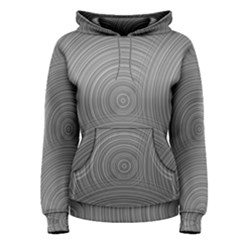 Circular Brushed Metal Bump Grey Women s Pullover Hoodie