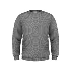 Circular Brushed Metal Bump Grey Kids  Sweatshirt