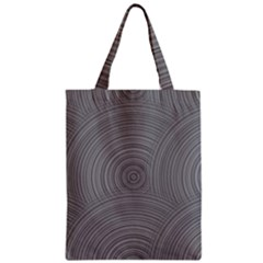 Circular Brushed Metal Bump Grey Zipper Classic Tote Bag