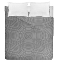 Circular Brushed Metal Bump Grey Duvet Cover Double Side (queen Size)