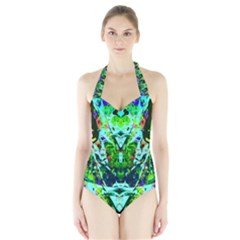 Eco Centered Halter Swimsuit by AlmightyPsyche