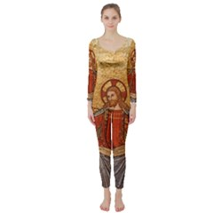 Gold Jesus Long Sleeve Catsuit by boho