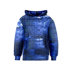 Blue Sequins Kids  Pullover Hoodie by boho