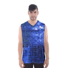 Blue Sequins Men s Basketball Tank Top by boho