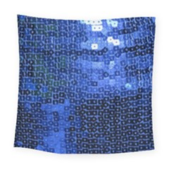 Blue Sequins Square Tapestry (large) by boho