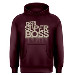 100% Super Boss - Men s Pullover Hoodie by FunnySaying