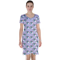 Purple Eyeballs Short Sleeve Nightdress by boho