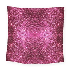 Pink Glitter Square Tapestry (large) by boho