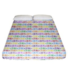Bicycles Fitted Sheet (queen Size) by boho