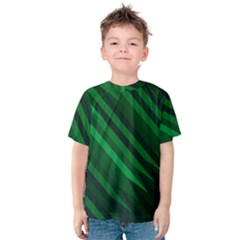 Abstract Blue Stripe Pattern Background Kids  Cotton Tee