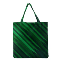 Abstract Blue Stripe Pattern Background Grocery Tote Bag by Simbadda