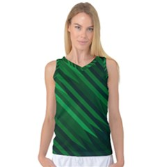 Abstract Blue Stripe Pattern Background Women s Basketball Tank Top by Simbadda
