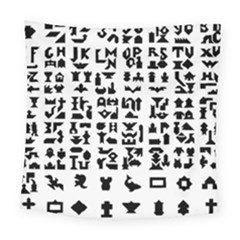 Anchor Puzzle Booklet Pages All Black Square Tapestry (large) by Simbadda