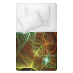 Art Shell Spirals Texture Duvet Cover (single Size) by Simbadda