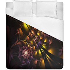 Art Design Image Oily Spirals Texture Duvet Cover (california King Size) by Simbadda