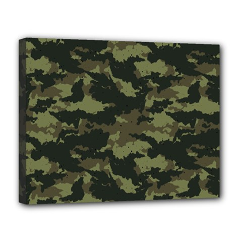 Camo Pattern Canvas 14  X 11  by Simbadda