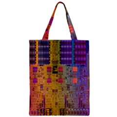 Circuit Board Pattern Lynnfield Die Zipper Classic Tote Bag by Simbadda