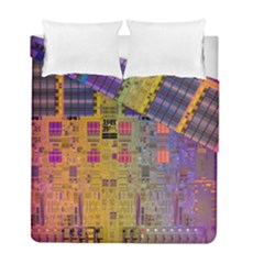 Circuit Board Pattern Lynnfield Die Duvet Cover Double Side (full/ Double Size) by Simbadda