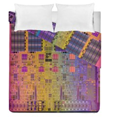 Circuit Board Pattern Lynnfield Die Duvet Cover Double Side (queen Size) by Simbadda