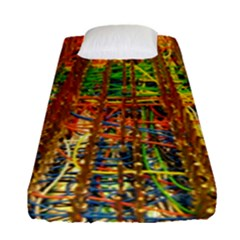 Circuit Board Pattern Fitted Sheet (single Size) by Simbadda