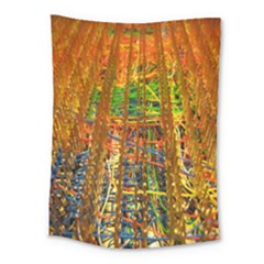 Circuit Board Pattern Medium Tapestry by Simbadda