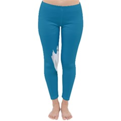 Swan Animals Swim Blue Water Classic Winter Leggings