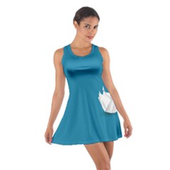 Swan Animals Swim Blue Water Cotton Racerback Dress