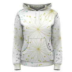 Retro Floral Flower Seamless Gold Blue Brown Women s Pullover Hoodie