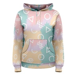 Triangle Circle Wave Eye Rainbow Orange Pink Blue Sign Women s Pullover Hoodie