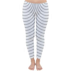 Wave Black White Line Classic Winter Leggings