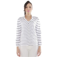 Wave Black White Line Wind Breaker (women)